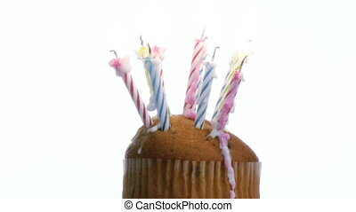 Birthday Candles on a cake