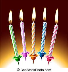 Birthday candles - The vector illustration of birthday ...