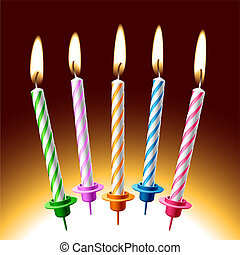 Birthday candles - The vector illustration of birthday...