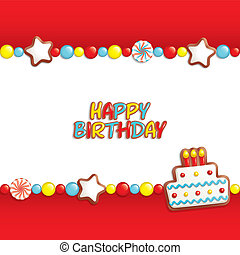 Birthday candy background