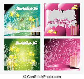 Birthday card background set vector