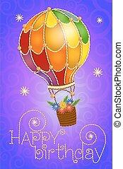 birthday card balloon
