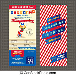 Birthday card Boarding pass style - Birthday card with...