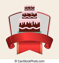 birthday card cake banner