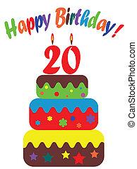 Birthday card , for twentieth
