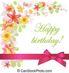 Birthday Card - Happy Birthday Card, Isolated On White...