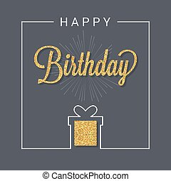 birthday card logo design background