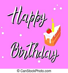 Birthday card on a pink background