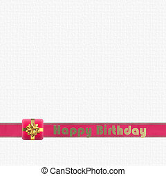 Birthday card on white