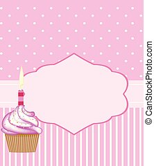 Birthday card template for girls