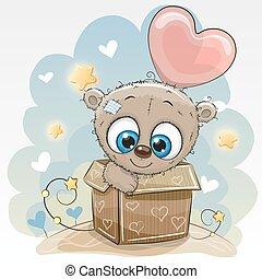 Birthday card with a Cute Teddy bear