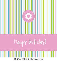Birthday card with copy space - Birthday card