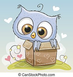 Birthday card with Cute Owl