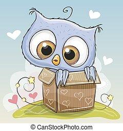 Birthday card with Cute Owl