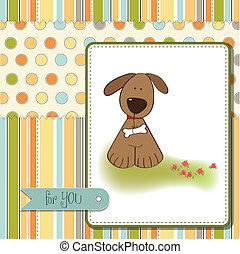 birthday card with dog