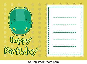 illustration cute crocodile