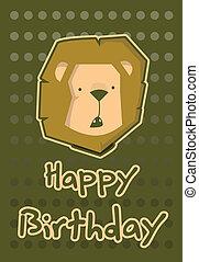 birthday card with illustration cut