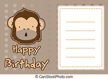 illustration cute monkey
