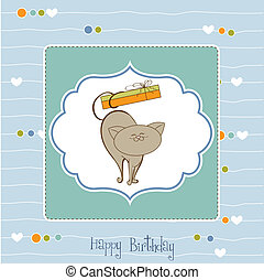 birthday card with little cat