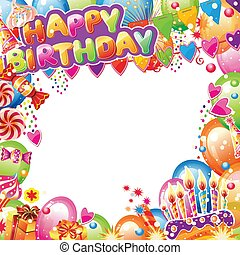 Birthday card with place for text