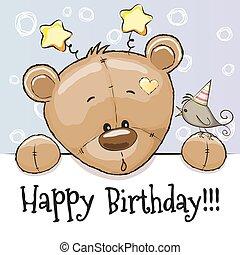 Birthday card with Teddy Bear