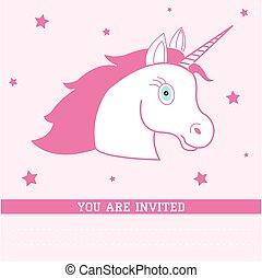 Birthday card with unicorn