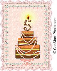 Birthday card,vector