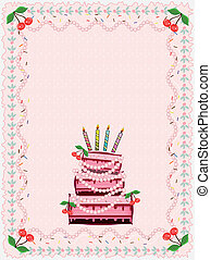 Birthday card,vector