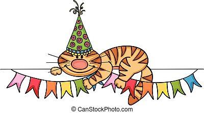 Birthday cat banner