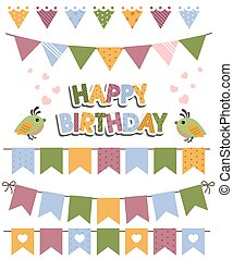 Birthday Celebration Design Element