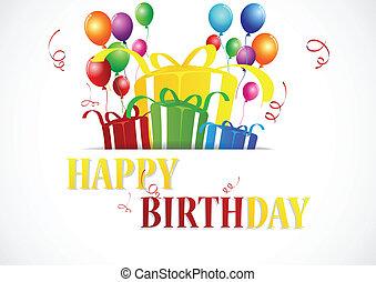 Birthday celebration - vector illustration of birthday ...