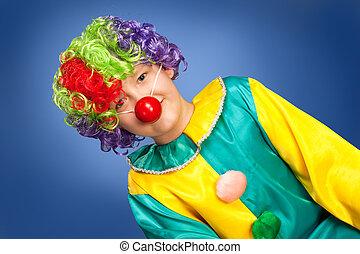 Birthday clown in full costume