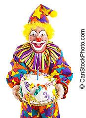 Birthday Clown With Cake