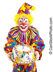 Birthday Clown With Cake