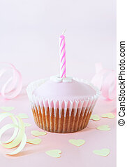 Birthday Cup Cake with Candle