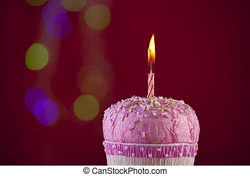 birthday, cupcake