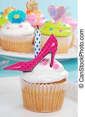 Birthday cupcake with high heel