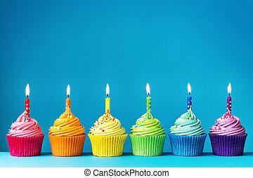 birthday, cupcakes