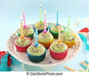 Birthday Cupcakes - Birthday cup cakes all with their own...