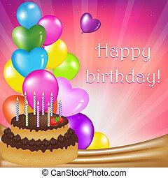 Birthday Day Card, Vector Illustration