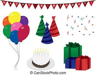 Birthday Decorations - Various birthday decorations...
