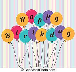Birthday design over white background, vector illustration