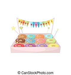 Birthday donuts set.