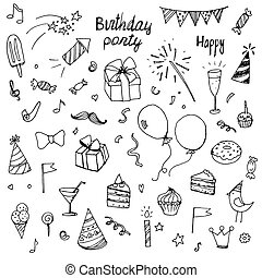 birthday doodle collection drawn ha
