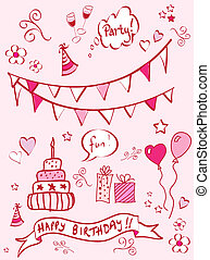 Birthday doodles - A set of birthday themed doodles. EPS10...