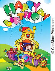 birthday., feliz