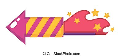 Birthday flapper or firework petard vector design template...