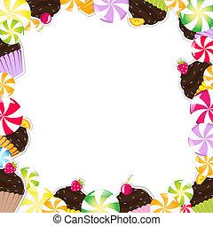 Birthday Frame With Cupcake
