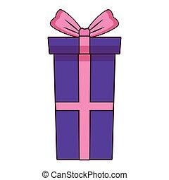 Birthday gift box isolated vector illustration graphic design