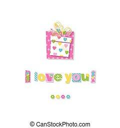 birthday gift I love you card